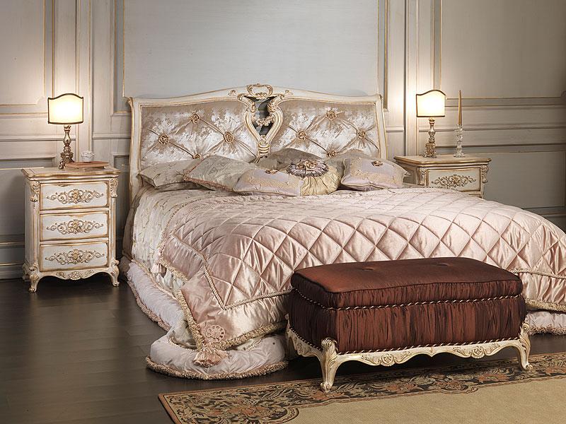 Letto classico camera da letto legno ferro battuto for Trittico per camera da letto