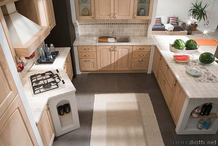 Arredamento country cucina legno cotto arte povera for Arredamento cucina country