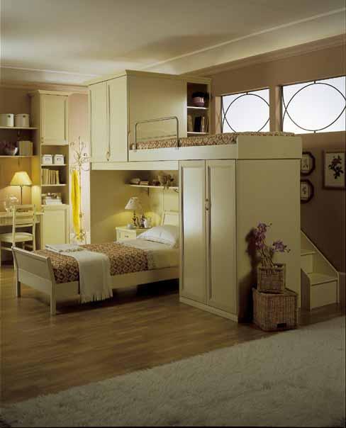 Arredamento classico cameretta legno eleganza - Camerette stile country ...