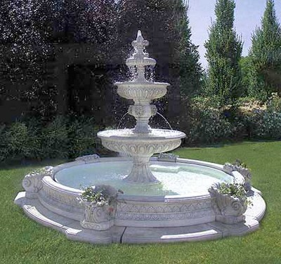 Fontane giardino: a muro, vedovella, cascata