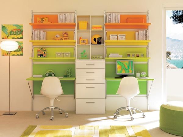 pareti attrezzate camerette componibili pannelli mensole
