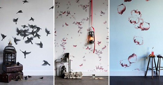 decorazioni pareti camera letto: adesivi da muro, quadri, orologi ...
